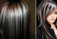 Мелирование на черные волосы – современный изысканный стиль